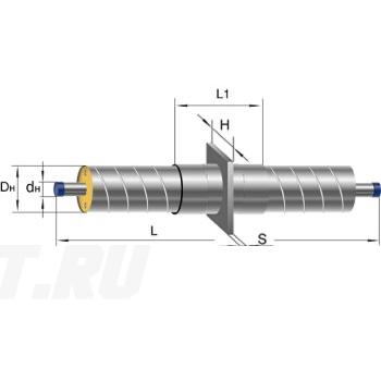 Неподвижная опора Ст 133-340x16 1-ППУ-ОЦ в ППУ изоляции