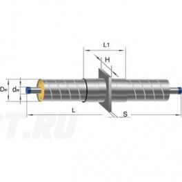 Неподвижная опора Ст 25-225x16 1-ППУ-ОЦ в ППУ изоляции