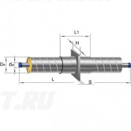 Неподвижная опора Ст 57-255x16 1-ППУ-ОЦ в ППУ изоляции