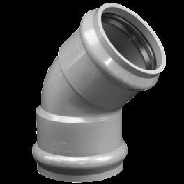 Отвод ПВХ напорный раструбный ⌀ 160 мм 45°