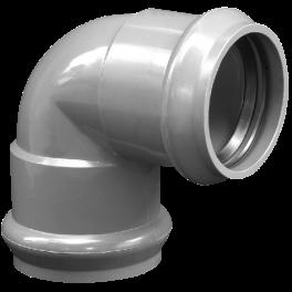 Отвод ПВХ напорный раструбный ⌀ 160 мм 95°