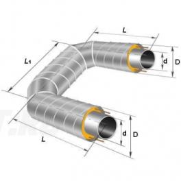 П-образный элемент Ст 159х4,5-1-ППУ-ОЦ в ППУ изоляции