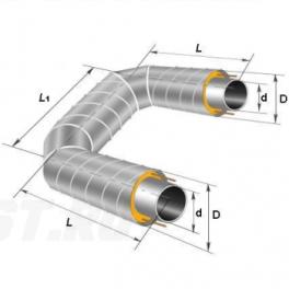 П-образный элемент Ст 273х7-1-ППУ-ОЦ в ППУ изоляции