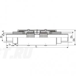 Сильфонный компенсатор СКУ Ст 200-1,6-140-1-ППУ-ПЭ в ППУ изоляции