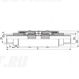 Сильфонный компенсатор СКУ Ст 400-1,6-190-1-ППУ-ПЭ в ППУ изоляции