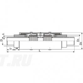 Сильфонный компенсатор СКУ Ст 600-1,6-200-1-ППУ-ОЦ в ППУ изоляции