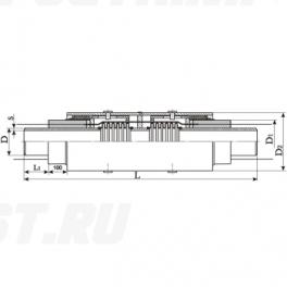 Сильфонный компенсатор СКУ Ст 65-1,6-70-1-ППУ-ПЭ в ППУ изоляции
