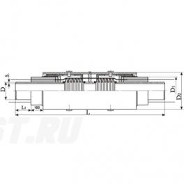 Сильфонный компенсатор СКУ Ст 80-1,6-70-1-ППУ-ОЦ в ППУ изоляции