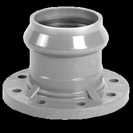 Патрубок напорный раструбный с ПВХ фланцем ⌀ 110/100 мм