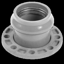Патрубок напорный раструбный со стальным фланцем ⌀ 90/80 мм