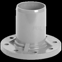 Патрубок напорный гладкий с ПВХ фланцем ⌀ 160/150 мм