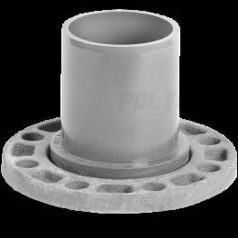 Патрубок напорный гладкий со стальным фланцем ⌀ 160/150 мм