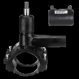 Вентиль FRIALEN для врезки под давлением ⌀ 110 x 32 мм, с патрубком и муфтой