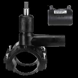 Вентиль FRIALEN для врезки под давлением ⌀ 110 x 63 мм, с патрубком и муфтой