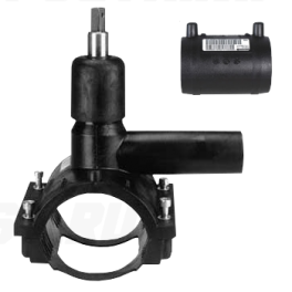 Вентиль FRIALEN для врезки под давлением ⌀ 125 x 63 мм, с патрубком и муфтой