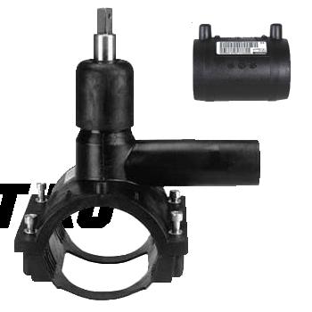 Вентиль FRIALEN для врезки под давлением ⌀ 160 x 63 мм, с патрубком и муфтой