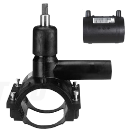 Вентиль FRIALEN для врезки под давлением ⌀ 90 x 40 мм, с патрубком и муфтой