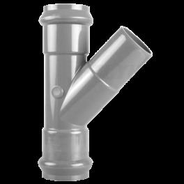 Тройник ПВХ напорный раструбный ⌀ 160х160 мм 45°