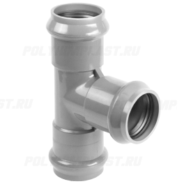 Тройник ПВХ напорный раструбный ⌀ 225х110 мм 90°