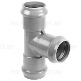 Тройник ПВХ напорный раструбный ⌀ 225х160 мм 90°