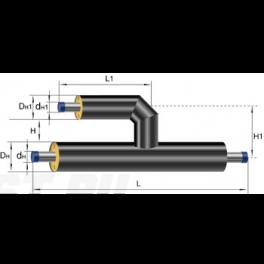 Тройник параллельный Ст 38 38 1-ППУ-ПЭ в ППУ изоляции
