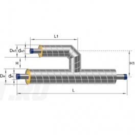Тройник параллельный Ст 426 45 1-ППУ-ОЦ в ППУ изоляции