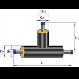 Тройник Ст 133 32 1-ППУ-ПЭ в ППУ изоляции