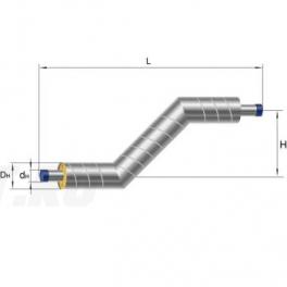 Z-образный элемент Ст 133х4-1-ППУ-ОЦ в ППУ изоляции