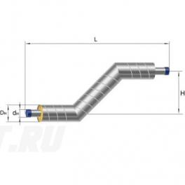 Z-образный элемент Ст 219х6-1-ППУ-ОЦ в ППУ изоляции