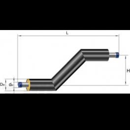 Z-образный элемент Ст 219х6-1-ППУ-ПЭ в ППУ изоляции