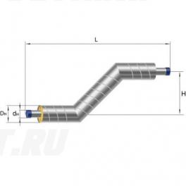 Z-образный элемент Ст 273х7-1-ППУ-ОЦ в ППУ изоляции