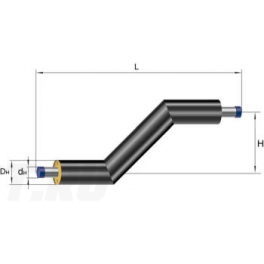Z-образный элемент Ст 45х3-1-ППУ-ПЭ в ППУ изоляции