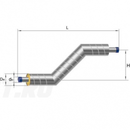 Z-образный элемент Ст 89х4-1-ППУ-ОЦ в ППУ изоляции